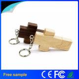 Regalo promocional Flash Drive de madera llavero USB Cruz