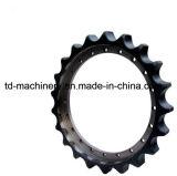 Excavador del piñón de cadena en el OEM de China de las piezas del piñón del excavador de la correa eslabonada del excavador