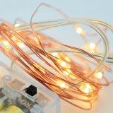 Luz a pilhas substituível da corda do reflexo do fio de cobre do diodo emissor de luz de 2 M