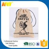 Kaffee-Hanf-Leinwand-Jutefaserdrawstring-Beutel-Beutel