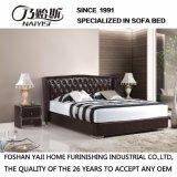 Base suave del cuero negro del color para el uso del dormitorio (FB3072)