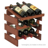 Restaurant Stockage réglable Bouteille en bois Tabletop Display Wine Stf