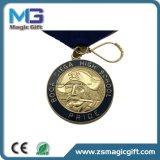 工場直接カスタム賞の連続したマラソンのスポーツ亜鉛Aloyはダイカストの柔らかいエナメルメダルを