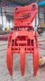 гидровлические 15-40t оборудованные землечерпалкой сражаются для деревянного Grabing