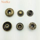 Tecla de bronze da pressão da mola da tecla do metal da alta qualidade