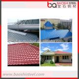 Hoja de acero acanalada revestida del color de la hoja de metal del material para techos de la fuente del líder del mercado