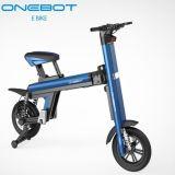 二重電池とのEbikeを折る青い電池の電気バイク