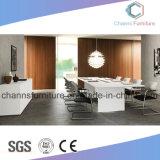 Diseño de moda Muebles de oficina de melamina Mesa de reunión de color blanco