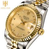 贅沢な金ビジネス機械人の腕時計のステンレス鋼防水耐衝撃性のRelojデジタル