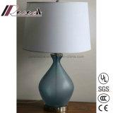 Lampe bleue initiale moderne de Tableau de corps en verre pour la chambre à coucher
