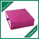 Caixa de empacotamento cosmética cor-de-rosa colorida da gaveta
