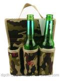 Sac isolé promotionnel de refroidisseur de bouteille de la coutume 6 de mode neuve