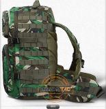 Saco do exército com cor camuflar do interior de 2 bolsos da hidratação