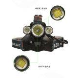 Farol do diodo emissor de luz do poder superior 10W T6 com função da luz da bicicleta