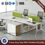 4 Sitzmoderne Büro-Partition mit Speicherschrank (HX-6M209)