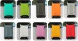 Cas antirayonnement de téléphone mobile d'armure de configuration intérieure jaune d'Araneose