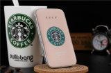 Ультра тонкий крен 8000mAh силы Starbucks тонкий