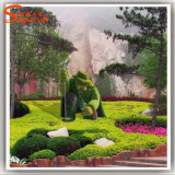Artificial Boxwood Hedge Animal plantas artificiales Topiary para decoración de jardín