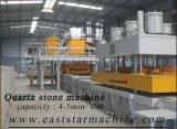 Laje da pedra de quartzo/imprensa artificiais da telha que faz a máquina