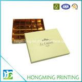 Оптовая коробка подарка шоколада рассекателя бумаги логоса золота