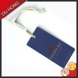 Heiße Stempel-Firmenzeichen-blaues Papier-Fall-Marke mit Farbband-Zeichenkette