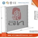 El polvo cubrió la cerca del panel de acoplamiento de 358 seguridades