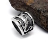 中国様式のドラゴンの男性のリングのステンレス鋼