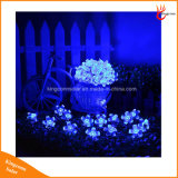 복숭아 꽃 20/30/50의 LEDs 정원 크리스마스 휴일 파티 결혼식을%s 태양 강화된 끈 장식적인 빛