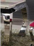 居間の家具のための上の大理石のステンレス鋼のダイニングテーブル