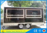 4.5mの高品質の移動式食糧トラックのDimondの版が付いている移動式台所トレーラー