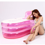 Grosses Größen-Rosa Belüftung-aufblasbare Badewanne für Erwachsenen