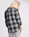 Чисто проверенная хлопком длинняя рубашка втулки для женщин