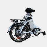 E-Bici plegable de la aleación de aluminio con la batería ocultada