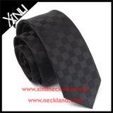 Perfecto nudo 100% hecho a mano Wven Negro seda corbatas