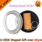 USB Pendrive древесины пробочки красного вина для выпивая подарков (YT-8130)