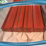 Colorir zinco revestido a folha de aço corrugada da telhadura