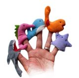 Netter Miniplüsch-Tierfinger-Marionetten