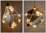 De moderne Hangende Lamp van het Veelvlak van het Hotel van de Tegenhanger van de Kroonluchter van het Glas van de Diamant Lichte
