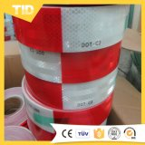Красная белая отражательная лента для тележки