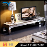 Hig Quality Home Furniture Metal Feet Mármore Top TV Cabinet