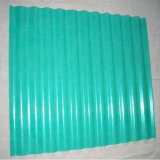 Feuille ondulée de toiture de produit d'espace libre de polycarbonate enduit en plastique de couleur