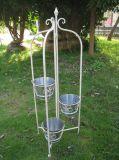 Sostenedor de crisoles del plantador de la grada del metal 3 de la decoración del jardín