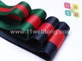 Sangle rayée de polyester de vente chaude pour le sac et le vêtement