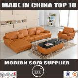 Sofá de couro moderno europeu do couro do sofá para a sala de visitas Divani