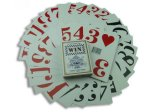 Cartes de jeu de tisonnier de code barres pour le casino