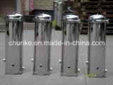 Filtro de bolso estéril industrial de agua del alesaje del acero inoxidable