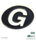 Heißes Verkaufs-Schwarz-Decklack-Metallreverspin-Abzeichen