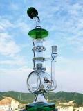 소형 유리제 비커 두 배 배럴 Recycler 연기가 나는 유리제 수관