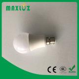 Luz de bulbo de A60 B22 LED con la certificación de RoHS del Ce