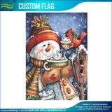 Glückliches Schneemann-Weihnachtsmarkierungsfahnen-Garten-Yard Bannner (M-NF06F11027)